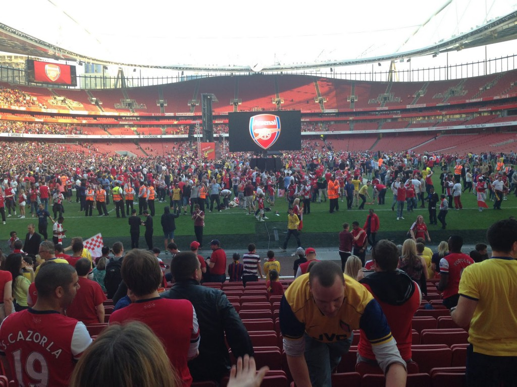 Pitch Invasion at The Emirates when Arsenal win FA Cup